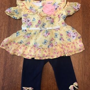 Adorable Baby Girl's 12 Months Sparkly Outfit